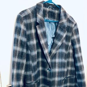 Chadwicks of Boston plaid wool blazer 20W